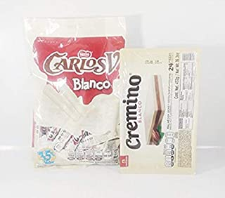 Pack Of Chocolate Carlos V Stick White Chocolate And Cremino White Chocolate Authentic Mexican Candy With Free Kinder Bar