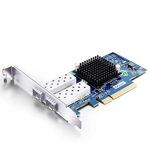 10Gtek® 10GbE PCIE Netzwerkkarte für Intel X520-DA2/ X520-SR2-82599ES Chip, Dual SFP+ Ports, 10Gbit PCI Express x8 LAN Adapter, 10Gb NIC für Windows Server, Win8, 10, Linux, 3-Year Warranty, MEHRWEG
