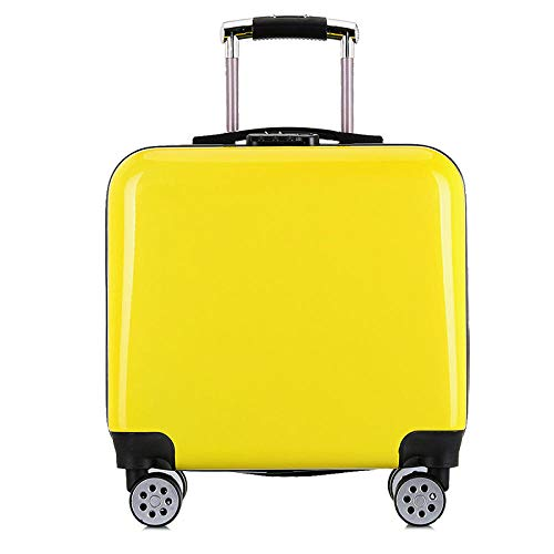 YANYINGDE Expandable Bagage cabine,Trolley case, universal Wheel Suitcase, Luggage, Boarding@Yellow_20 inches,Großer Schwerer Kofferkoffer TSA,