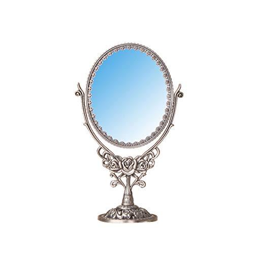 Espejo Maquillaje Espejo Cosmético Espejo de Doble Cara Tallado Antiguo clásico del Vintage, Espejo de la vanidad Espejo Maquillaje Espejo Cosmético (Color : C)