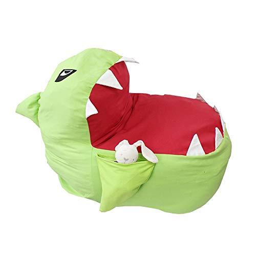 Dq123 Hai Tier Cartoon Aufbewahrungstasche Kreative Moderne Lagerung Gefüllte Lagerung Sitzsack Tragbare Kinder Kleidung Spielzeug Aufbewahrungsbeutel (Color : Gelb)