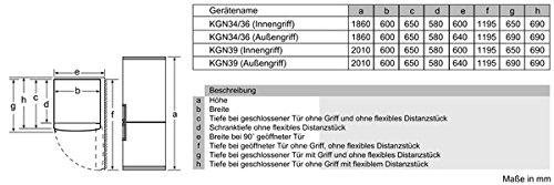 Siemens KG39NXI42 - Frigorífico Combi Kg39Nxi42 No Frost: Amazon ...