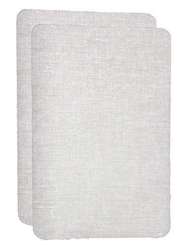 IHS Range 2er Set Weiss Bügelflicken zum Aufbügeln aus Baumwolle 10x15cm I Für Bettwäsche und mehr I Stoffflicken Ausbesserungsflicken Reparatur-Flicken Reparatursatz