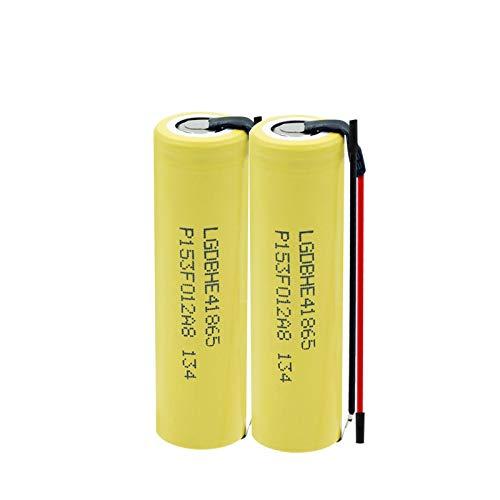 WSXYD 3.7v 2500mah Batería De Alta Descarga 35a 18650 He4, Batería Recargable DIY Linie para Linterna 2PCS