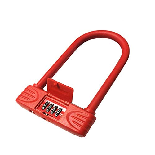 FHKBK Combination U Lock, Compression/wear Resistance/sturdy/reliable/cable Locks With Keys Four-digit Password/bicycle Anti-theft Lock Is Suitable For Mountain Bikes