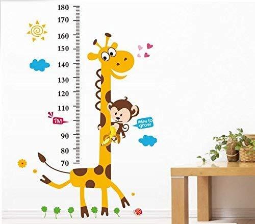 Rainbow Fox altura de jirafa Mono gráfico del modelo de desarrollo de la pared de adhesivo de vinilo Decor Sticker extraíble, para Super Nursery Sala de juegos y niñas adolescentes de cama infantil