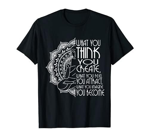 Law Of Attraction Spiritual Buddha Meditation Gifts Men Yoga T-Shirt