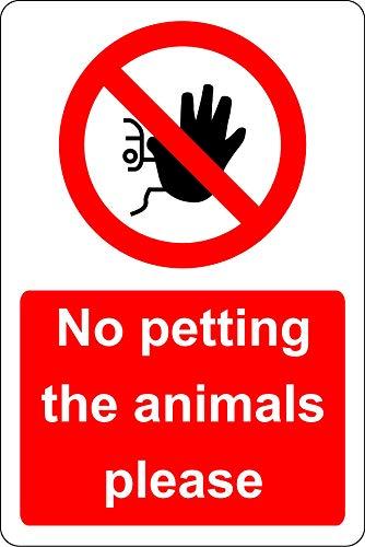 Geen kinderwagen de dieren gelieve te tekenen - Zelfklevende sticker 200mm x 150mm