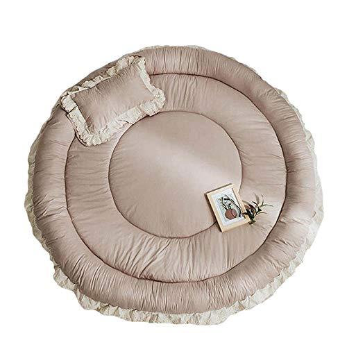 GSAGJyec Babyspielmatte, Baumwollkind-runde Kugel-Teppich, große weiche Kinder Krabbeln Teppich Spielmatte, Geeignet for Kleinkinder Kinder Kinderzimmer Dekor