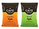 Cafe Valet Single Serve Individually Wrapped Coffee Packs, Regular Dark Roast and Decaf 100% Arabica, 168 Count