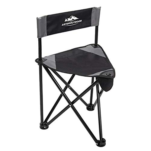 AsterOutdoor Tripod Stool Folding Chair Slacker Chair Travel Camp Tri-leg Chair Portable Lightweight for Hunting Camping Fishing Hiking Only 3.3lbs