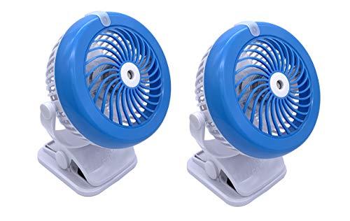 Spark Innovators Go Fan Cool Mist - Lithium Ion Fan w/ Built in Mister! - (2) Pack - As Seen on TV