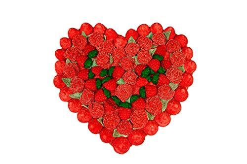 REGALO DULCE Tarta Regalo de Chuches en Forma de Corazón, Tarta de Golosinas compuesta por 85 Chucherías, 550 gr, 27x28 cm