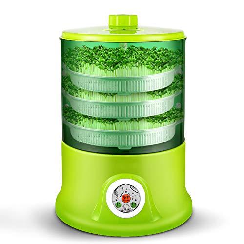 HZHHH Indoor Garten, Intelligent Bohnensprossen Maschine wachsen Automatische große Kapazitäts-Thermostat Grüne Samen Wachsende Automatische Bean Sprout-Maschine 220V,B