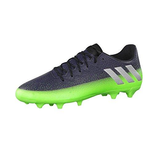 adidas Messi 16.3 Fg, Scarpe da Calcio Uomo, Grigio (Dark Grey/Silver Met./Solar Green), 42 EU