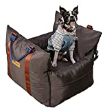 'Oli'Oli Pet Dog Car Seat & Pet Bed, 2-in-1 for Small & Medium Dogs Under 30lbs, Front & Back Protection with Safety Belt & Leash, Waterproof & Removable Cover
