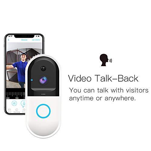 Intelligente draadloze deurbel, draadloze Wifi video deurbel thuis anti-diefstal bewegingsdetectie nachtzicht dual-use call deurbel