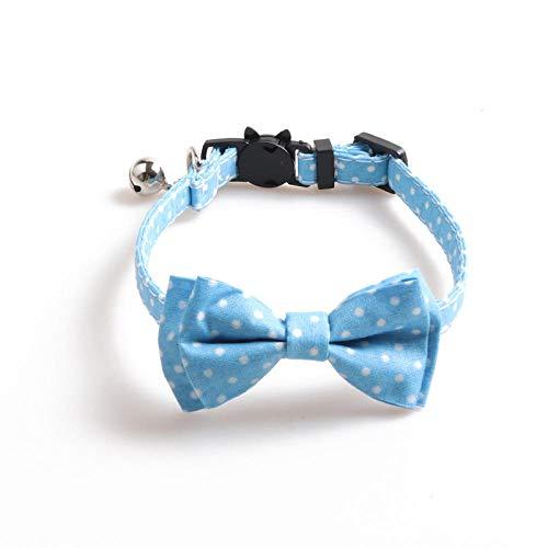 LEEYAN Collar de Colores Coloridos Collares de Cachorros de Chihuahua con Campanas Collar de Arco Ajustable para Gatos y Cachorros Suministros para Mascotas