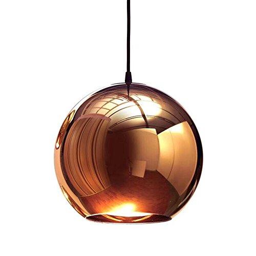 Moderna Mini Globo Pendente Illuminazione Regolabile Specchio Nordic Ball Shade Soffitto Lampada Lampadario Pittura Finitura Rame 15cm