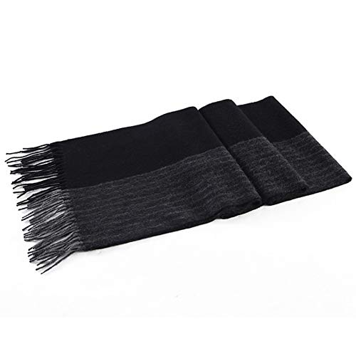 Moda Bufanda Chal Bufanda de cordero bufanda de tela escocesa sólida de lujo clásico cálido cálido larga suave cachemira invierno bufandas for hombres Accesorios de invierno Bufanda acogedora
