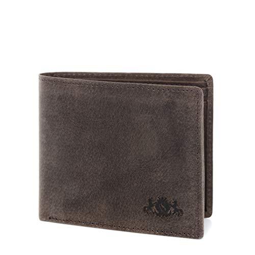 SID & VAIN portemonnee echt leer Jack liggend formaat portefeuille lederen portemonnee unisex