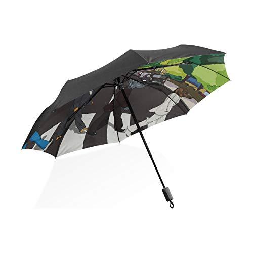 Paraguas grande Niños Abanicos elegantes Cachorro Perro Abbey Road Paraguas plegable compacto...