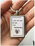 Romantic Valentines Day Gifts I Love You More The End I Win Muriel Valentine's Day Gifts for Husband Wife Girlfriend Boyfriend Anniversary Wedding Birthday Couple Key chain