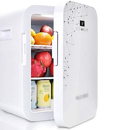 Refrigerador de automóviles y hogares de doble propósito, refrigerador de coche de 20 l de gran capacidad, termostato de pantalla digital AC/DC, 12V, 220V-Blanco b_28.5 * 35 * 41.5cm