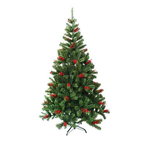 PeiQiH 2 Pcs Künstlicher Weihnachtsbaum Unbeleuchtete, Deluxe Verschlüsselte Xmas Dekobaum Kunstbaum Mit Rotes Obst Kahler Baum Für Indoor Outdoor Partei-a 120cm/4ft