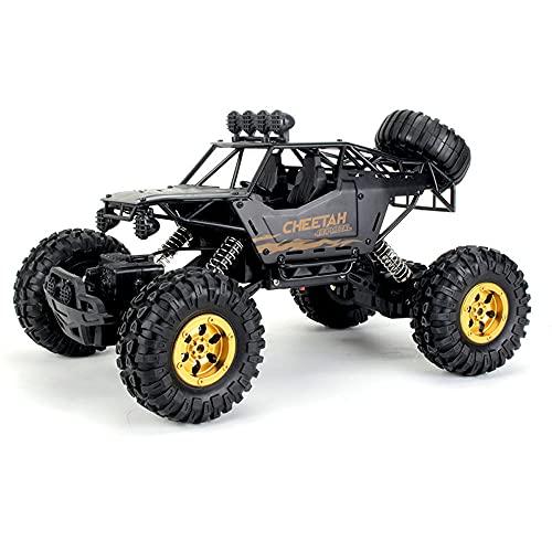 Coche de control remoto con tracción en las cuatro ruedas, versión de aleación de 2,4 g, camión Rc de escalada de pies grandes 1:12, juguetes para niños anticolisión y anticaída Vehículo Rc, coche Rc