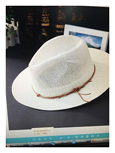 Fantastic Deal! Hat Hat Summer Grass Yarn Lady Visor Impersonal Bracing Cool Hat Fashion Hat (Color ...