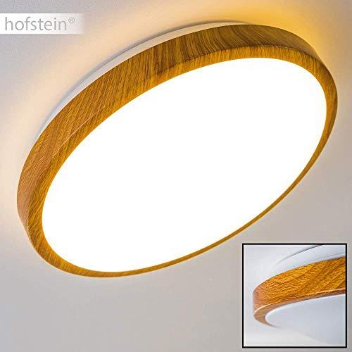 Bad Deckenlampe Sora Wood mit warmweißem Licht in Holzoptik - Deckenstrahler für Badezimmer - Flur - Küche - Innenlampe mit LED-Licht in schickem Holz-Dekor