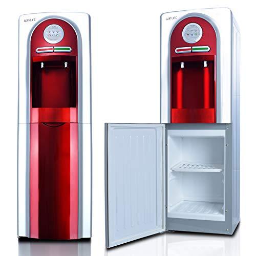 Elektrischer Wasserspender für heiße & kalte Getränke Trinkwasserspender für Haushalt, Bürobedarf, Industriebedarf Standgerät für 5 bis 20 Liter Gallonen praktisch, umweltfreundlich & hygienisch (Rot)