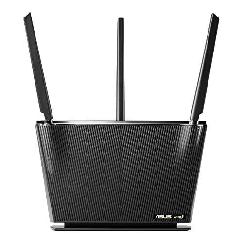 ASUS RT-AX68U - Router WiFi 6 AX2700 Doble Banda Gigabit (OFDMA, MU-MIMO, 1024QAM, QoS, Cliente y Servidor VPN, Modo Punto Acceso, repetidor & Nodo AiMesh, AiProtection con Trend Micro)