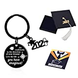 PRECOME Graduation Gifts for Her 2021, Grad Keychain for Him, College High School Senior Gift Ideas, Graduate Present, Women Jewelry, Men Keyring
