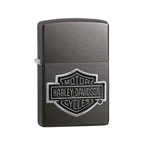 Zippo Harley-Davidson PLACCA, Accendino Unisex Adulto, Black, Regular