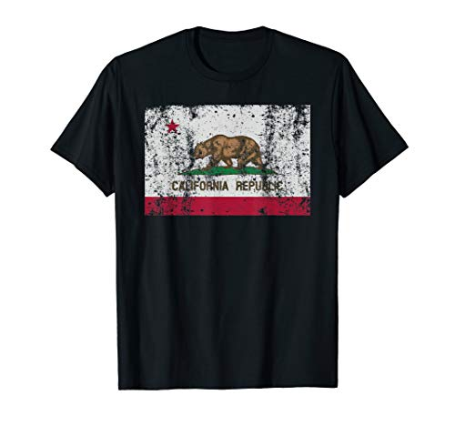 California Flag Republic Vintage Retro Official Bear Gift T-Shirt