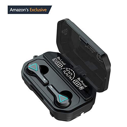 Auriculares Inalámbricos Bluetooth 5.1, Auriculares Bluetooth Deportivos IPX5 Impermeable, In-Ear Cascos Bluetooth Inalámbricos con Microfono Dual y Caja de Carga para iPhone/Samsung/Androide/Airpods