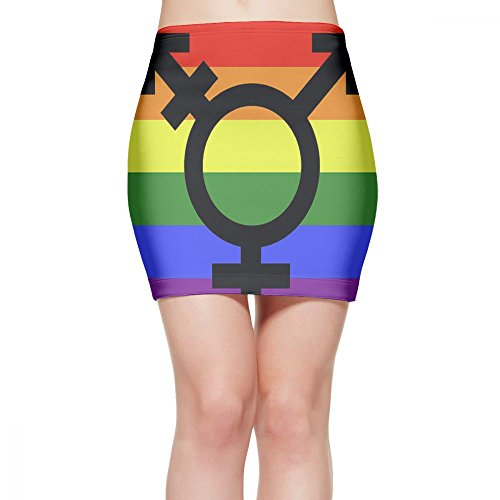 UAJAR Lesbian Pride Flag Women's Mini Pencil Skirt Slim Tight Short Skirt