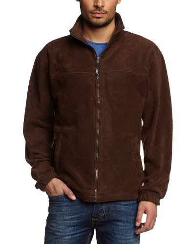 James & Nicholson Herren Full-Zip-Fleece Jacke, Braun (braun), Large