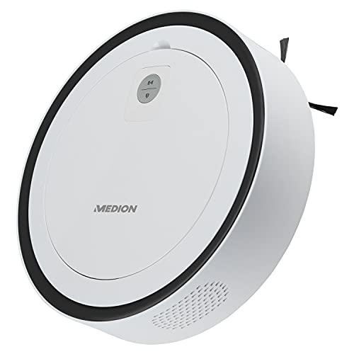 MEDION Saugroboter mit intelligenter Lasernavigation (Modell 2020, App und Alexa kompatibel, Raumkarte, 120 Min Laufzeit, mit Ladestation, Tierhaar und Allergiker optimiert, MD 18871)