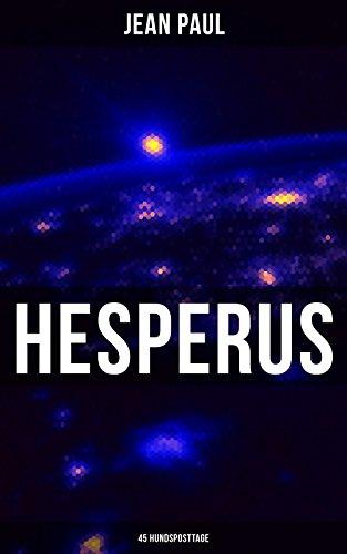 Couverture du livre HESPERUS (45 Hundsposttage): Eine Lebensbeschreibung (German Edition)