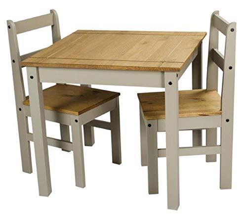 Mercers Furniture Trade Corona Grey Wax Rio Dining Table & 2 Chairs