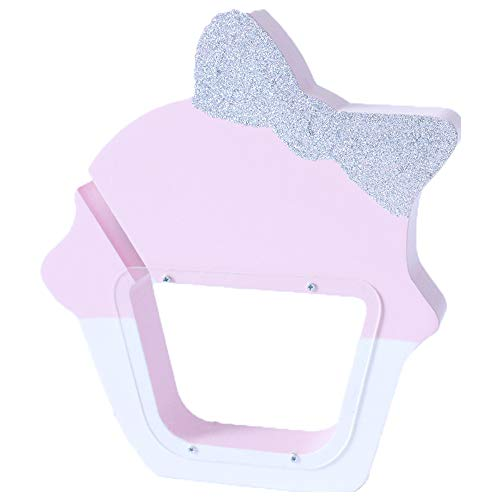 Kassa MYKK transparant acryl schattig ijs spaarpot opbergdoos houten speelgoed cadeau voor kinderen 23 * 19 * 3cm roze