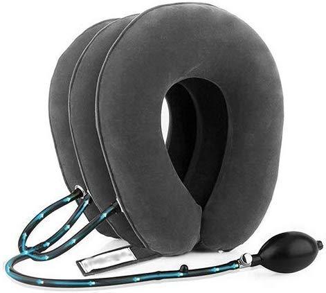 Dispositivo de tracción del Cuello Cervical, collarín casero, Soporte de Cuello Inflable Estiramiento Alivio del Cuello Cuello