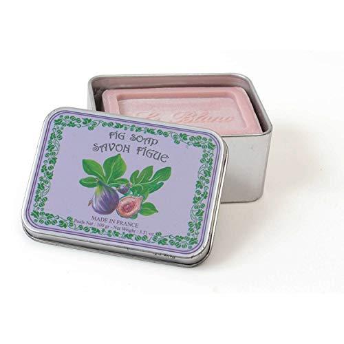 LE BLANC Savon Figue - Boîte en Métal - 100 g