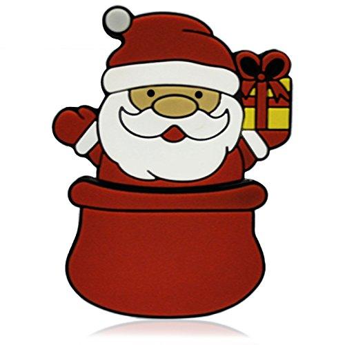 818-Shop No7400070064 USB-Sticks (64 GB) Weihnachten Nikolaus im Sack rot