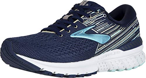 Brooks Women's Adrenaline GTS 19, Navy/Aqua, 8.5 B