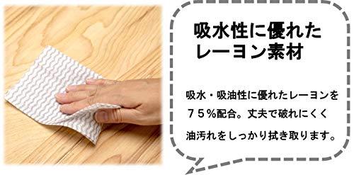 ストリックスデザインカウンタークロスブルー約30㎝×61㎝使い切りの不織布ふきん100枚入J-116