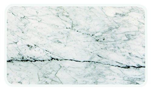 """zakdesigns 1303-130 Servierplatte \""""Osmos\"""" in Marmor-Optik, 23,5 x 16 x 0,4 cm, Melamin, braun"""